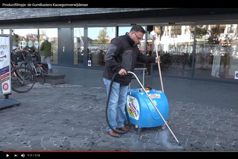 Productfilmpje: Weska Schoonmaakproducten de Gumbuster Kauwgomverwijderaar